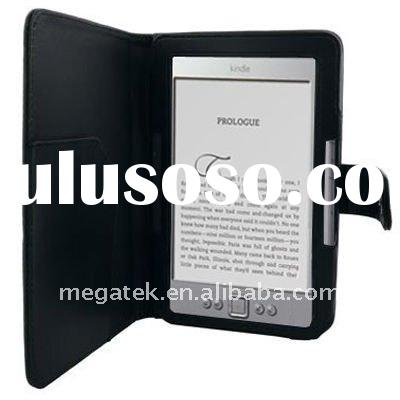PU leather pounch case for amazon kindle 4