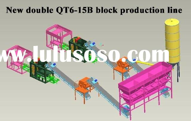 QT6-15A full-automatic block making machine line