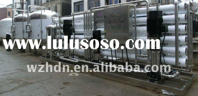 Two stage reverse osmosis water plant