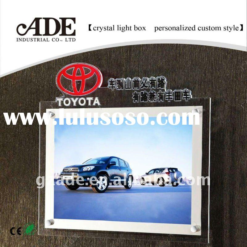 customized LED slim crystal  light box