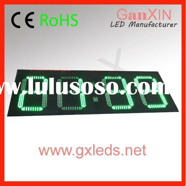 green 14inch 4digit alibaba new product  outdoor 14inch led digital wall clock