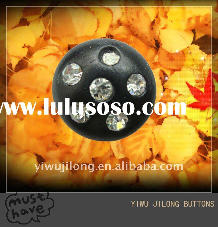 metal jeans buttons with rhinestone