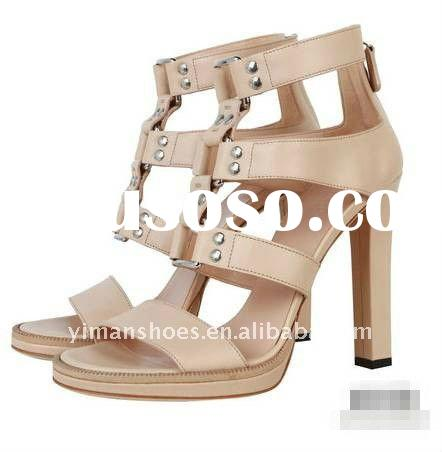 2012 newest  high  heel shoes for women with  rivet