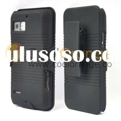 2-IN-1 Rubberized Combo Holster for Motorola Droid Bionic XT875 belt clip case and stand