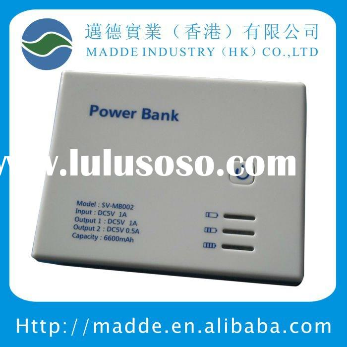 Double USB output external battery pack for 3C product