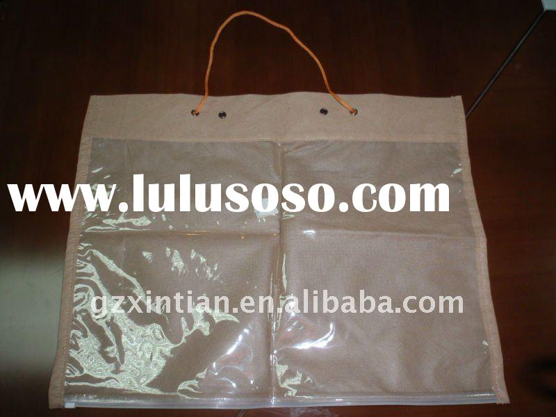 One side Transparant PVC/ Non-woven Fabric Clothing Bag XT-F5