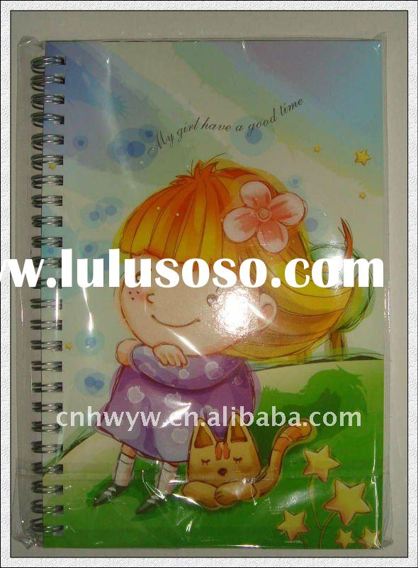 PVC Cover Spiral Notebook