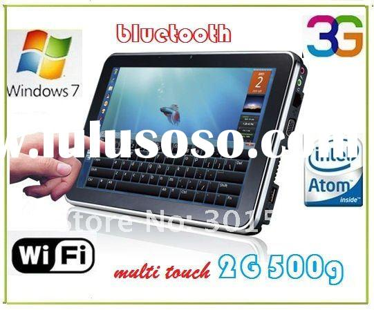 (T003)NEW!! 10 tablet pc touchscreen Capacitive Intel Atom N450 1.6Ghz  2G/500G  3G  Windows 7 Table