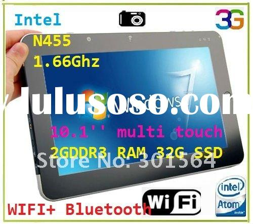 (*T012D*)10 Tablet PC Multi Touch Intel Atom N455 32GB SSD windows 7 tablet PC
