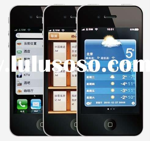 Hottest and Newest!!!The First Retina Capacitive Screen Chinese Smartphone Gooapple 4S MTK 6573 andr