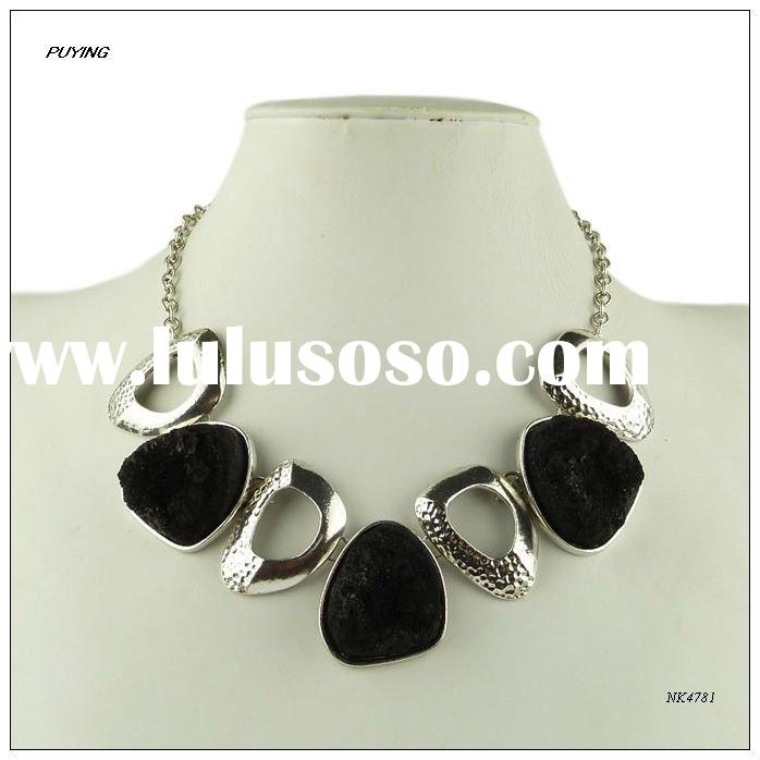 Popular Black Resin Zinc Alloy Lady Costume Party Necklace,Fashion Girl Jewellery