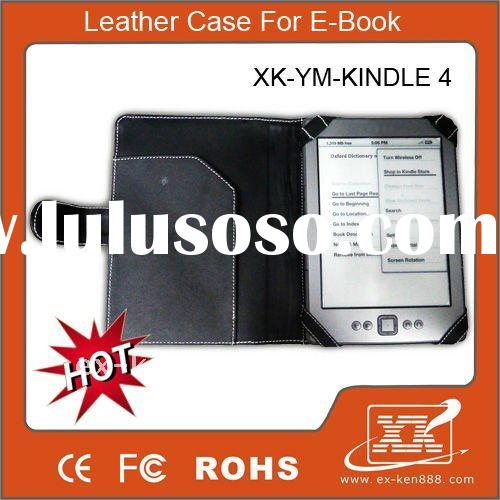 Hot selling !!!   Case for kindle 4 leather case