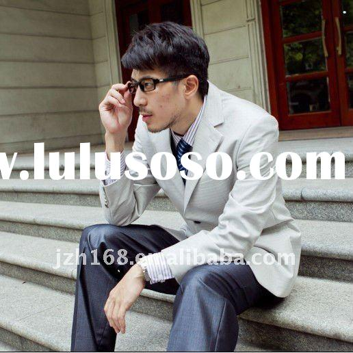 NEW fashional  business style color offwhite double buttons long sleeve high-grade men's sui