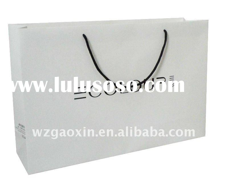 fashion brand garment shopping bag with logo