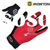red speciazlized full finger cycling gloves
