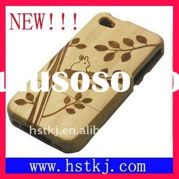 100% bamboo case bamboo cover HST-IP4-002
