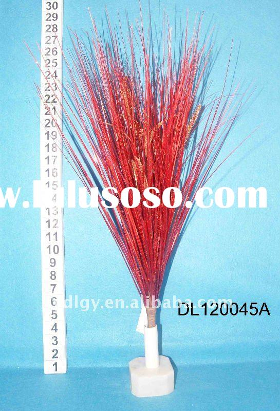 "28"" red artificial flower grass bushes"