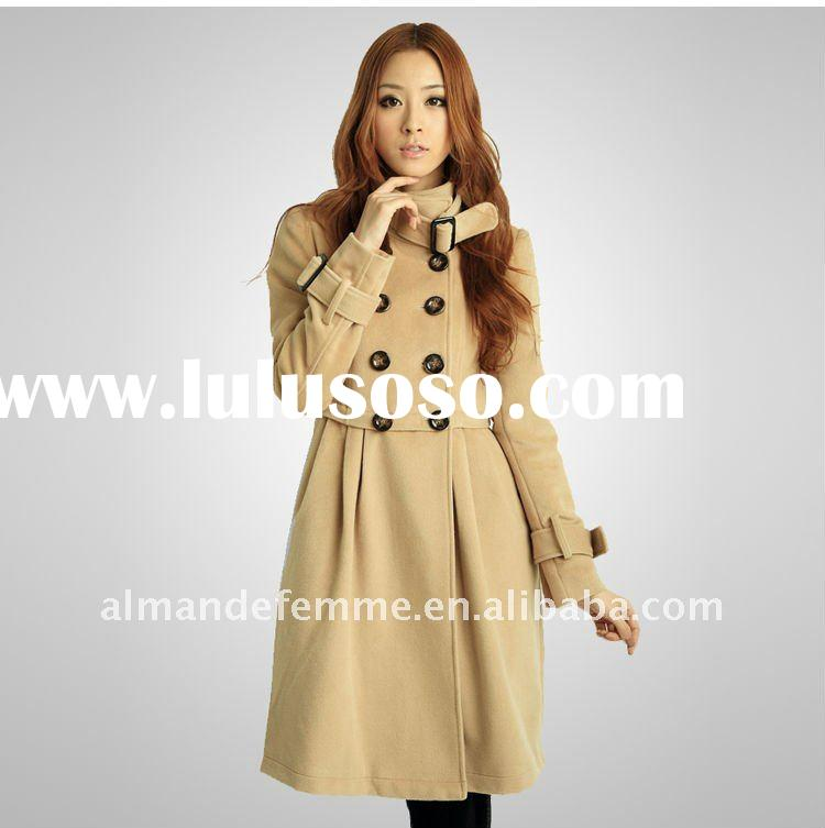DOUBLE BREAST WOOL COAT