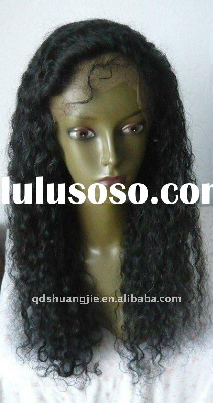 Fashion water wave 100%Indian remy hair full lace wig