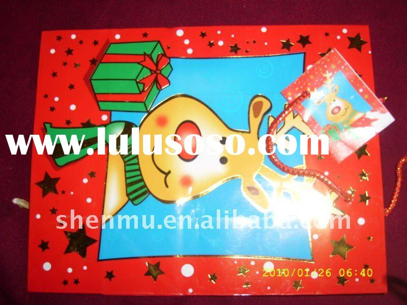 lovely colorful  christmas paper bag