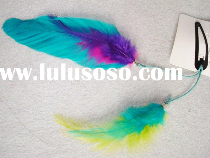 simple elegant feather hair clip