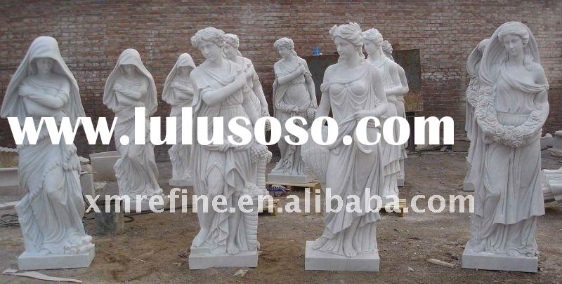 Carving marble statue