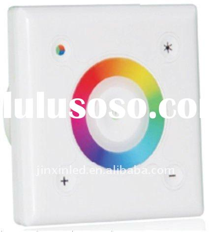 Wireless touching wall mounted LED controller & dimmer