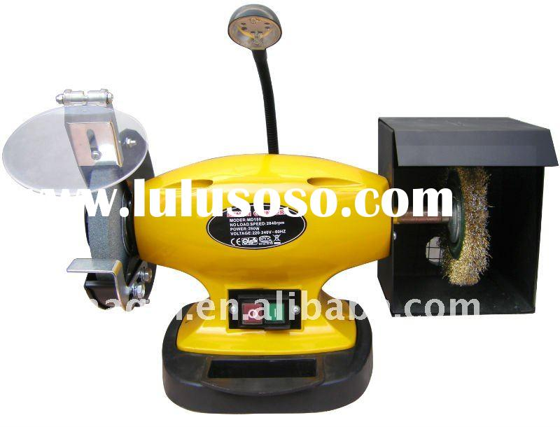 150mm  bench grinder with LED light and water trough