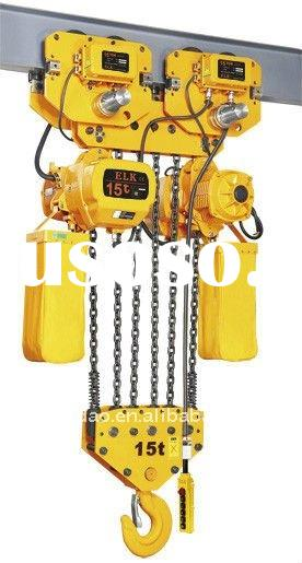 15ton eleactric chain hoist with electric trolley