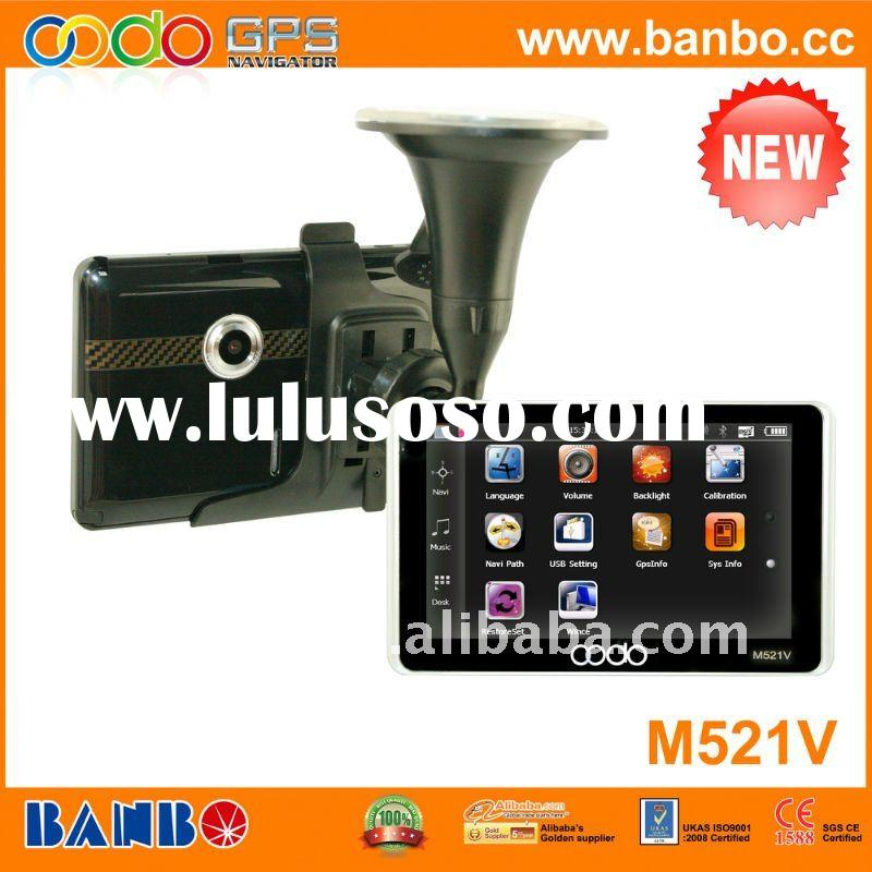 5 inch Car DVR GPS with bluetooth and Avin,vedio record