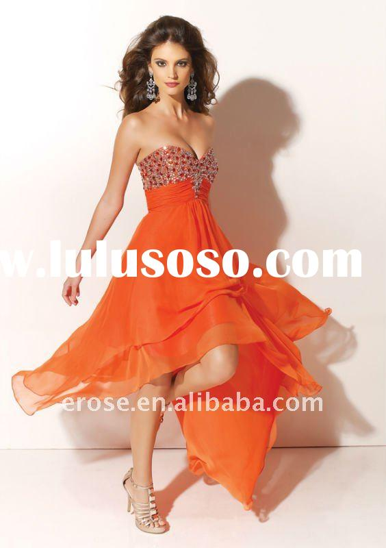 Hot Sale Beaded Sweetheart Neckline Asymmetrical Prom Dress PD-A005