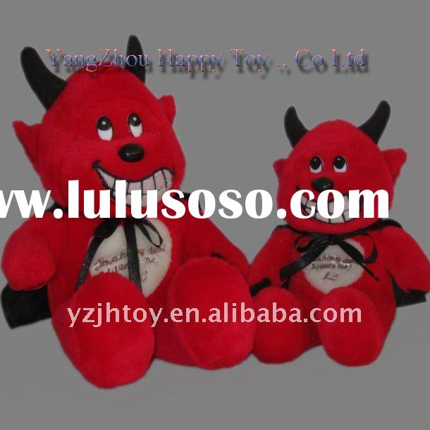 Plush&Stuffed Cow Toy, Plush Cute Red Cow With Black Cloak,Valentine's day Cow Toys