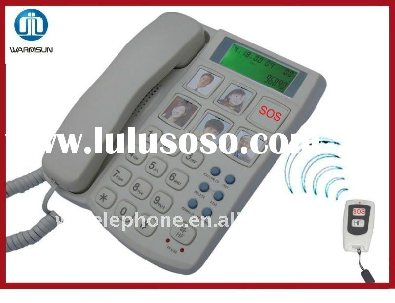 Remote Control New Corded telephone model with Caller ID for old people