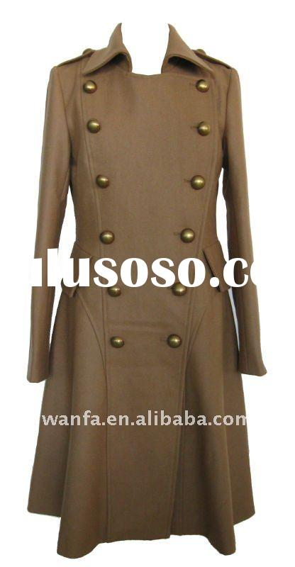 lady's wool coat/melton coat