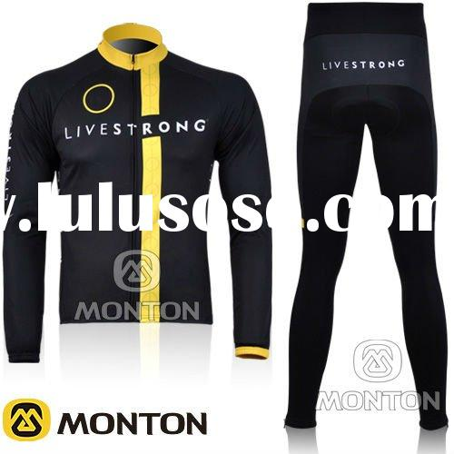11 Lives Black Long Sleeve Quick Dry Cycling Jersey&Pants/Clothing