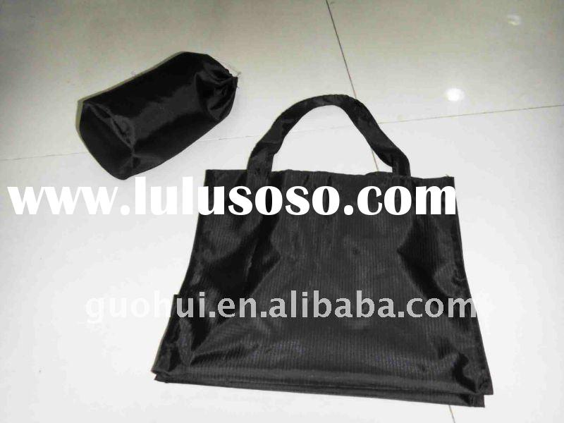 2011 hot selling nylon tote bag foldable with pocket