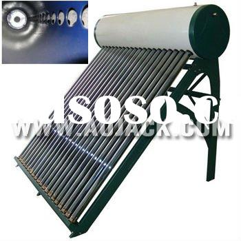 Integrated evacuated tube solar water heater
