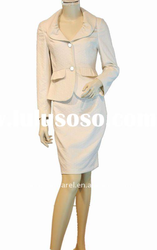 2011 fashionable hot selling lady suit with rever collar long sleeve
