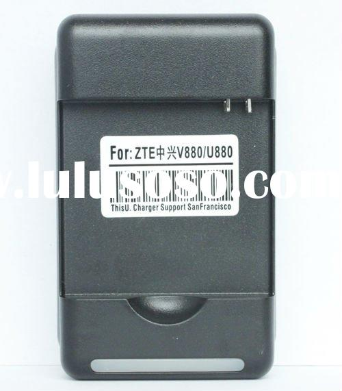 2011 new charger for ZTE V880 U880 universal charger with usb and LED indicator