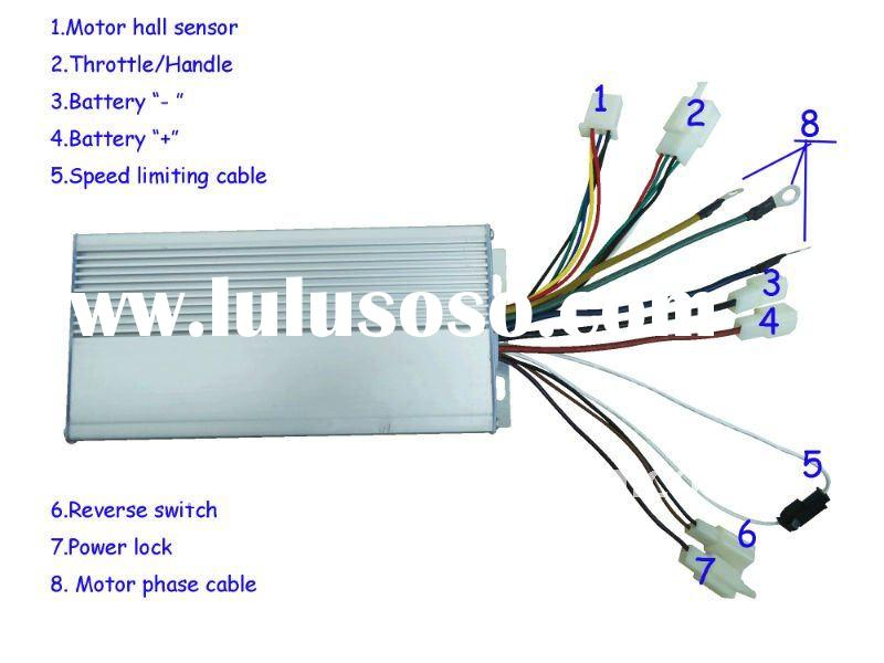 Brushless DC electric tricycle controller