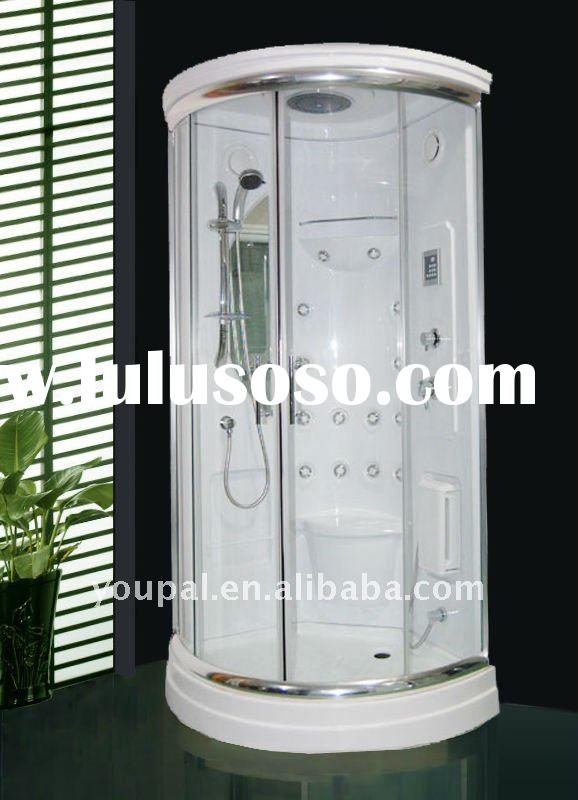 Complete shower room ,the flexible located backwall fit for 850,900,950,1000mm shower tray