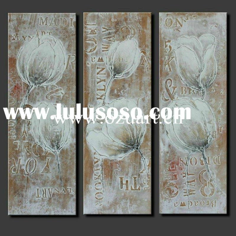 Handmade Flower Group Abstract Oil Painting