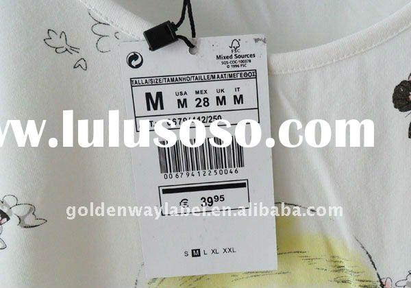 High Quality paper printed tang tags