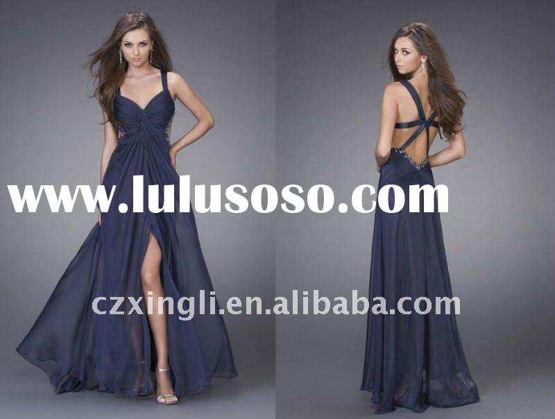 Newest Style Backless Party Prom Dresses 2011