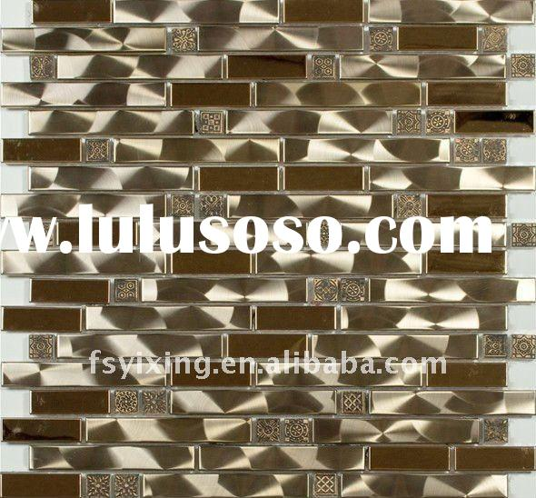 The hotest sell  304 stainless steel metal mosaic for wall decoration