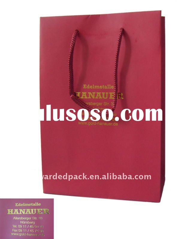 luxury jewellery paper bag with gold foil