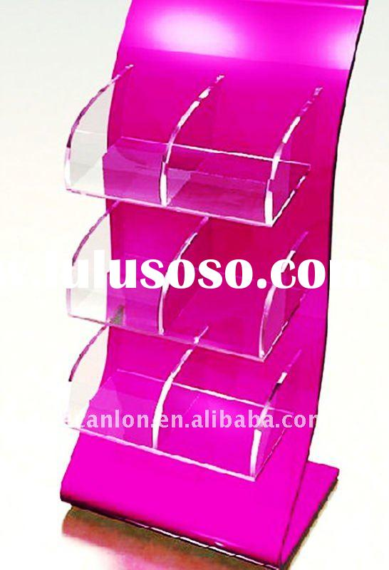 plexiglass cosmetic floor stand display