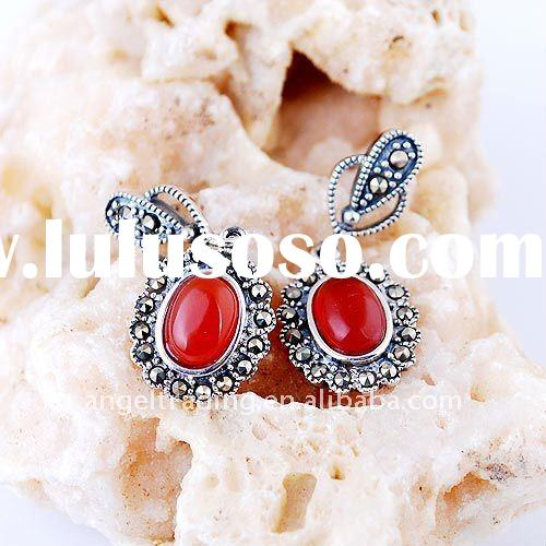 wholsale new fashion 925 silver earring,jade earring jewelry free shipping