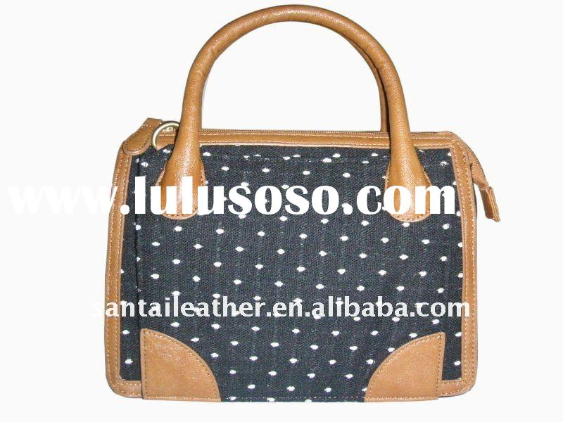 2011 new design simple tote shape lady leather handbag