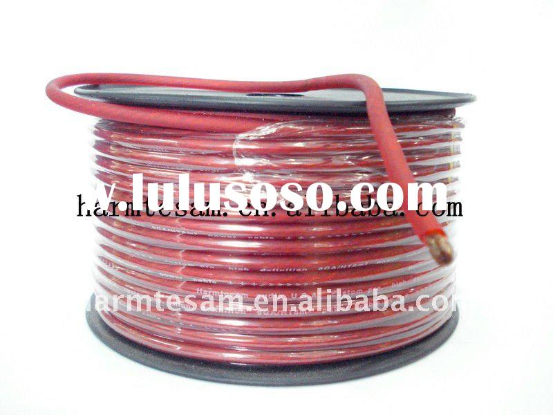 Good quality pure copper frosted red power cable with a plastic wire wheel